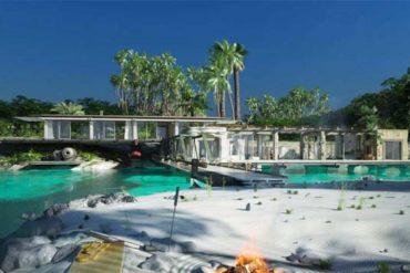 Rumah Pantai Mewah Lengkap dengan Dermaga