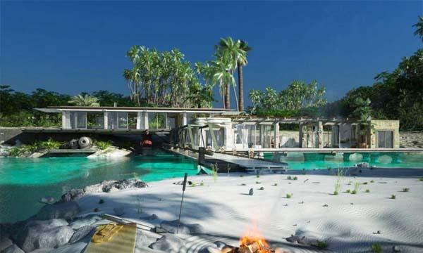 Rumah Pantai Mewah Lengkap dengan Dermaganya 4