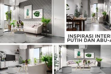 Inspirasi Interior Putih dan Abu-abu
