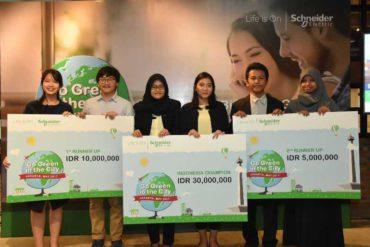 """Schneider Electric  Umumkan Para Pemenang  """"Go Green in the City 2017"""""""