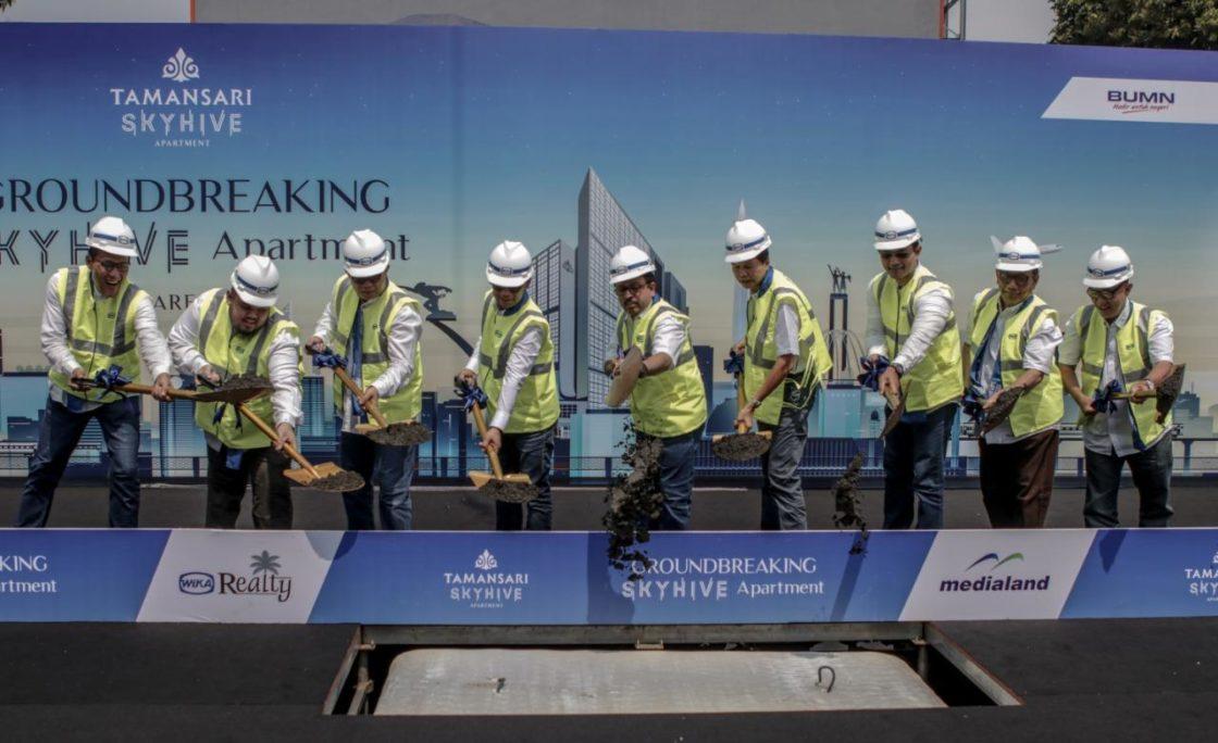 WIKA Realty dan Medialand Lakukan Groundbreaking Ceremony Tamansari Skyhive Apartment